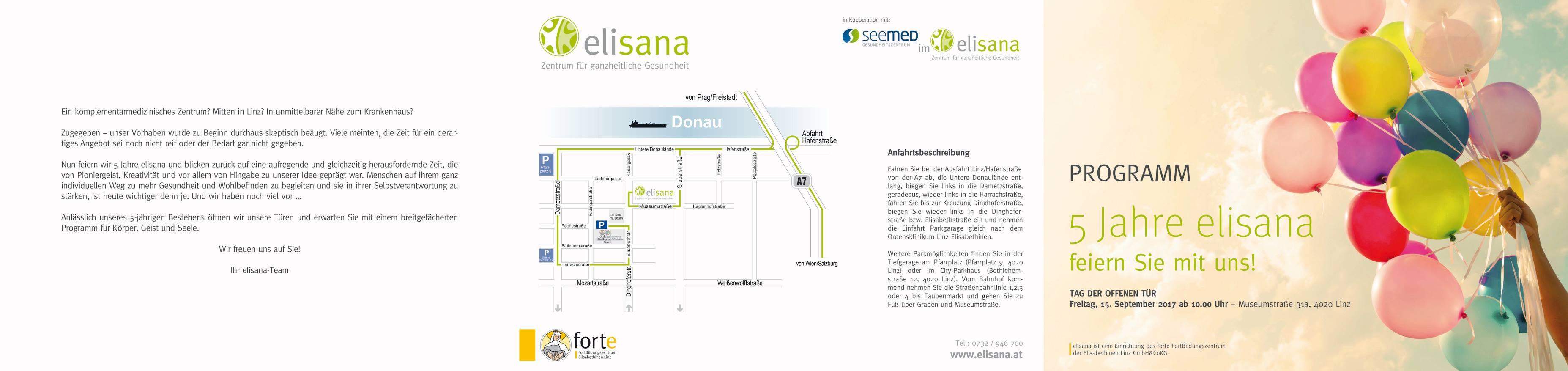 Programm Tag der offenen Tür Elisana 2