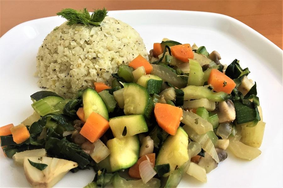 Karfiolreis mit Gemüse